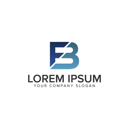 Illustration pour letter FB logo design concept template - image libre de droit