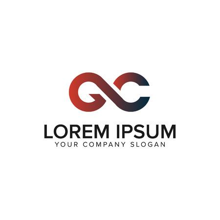 Ilustración de letter GC logo design concept template - Imagen libre de derechos