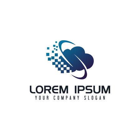 Ilustración de Communications internet cloud logo design concept template - Imagen libre de derechos