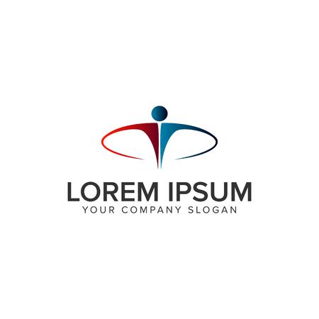 Ilustración de luxury business people Logo design concept template - Imagen libre de derechos