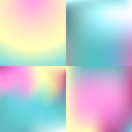 Ilustración de Sweet color blurred background set . pastel color design - Imagen libre de derechos