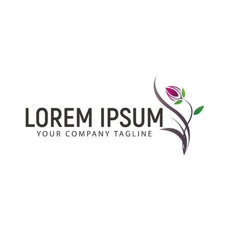 Illustration pour Flower Logo design concept template - image libre de droit