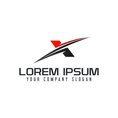 Ilustración de A modern letter X logo design concept template - Imagen libre de derechos