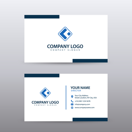 Illustration pour Modern Creative and Clean Business Card Template with blue color . Fully editable vector. - image libre de droit