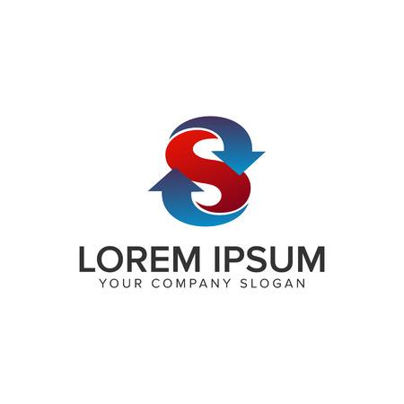 Ilustración de letter S arrow logo design concept template - Imagen libre de derechos