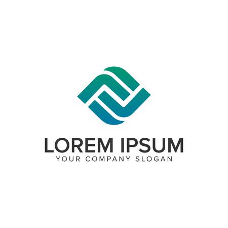 Ilustración de Letter F modern Box logo design concept template - Imagen libre de derechos