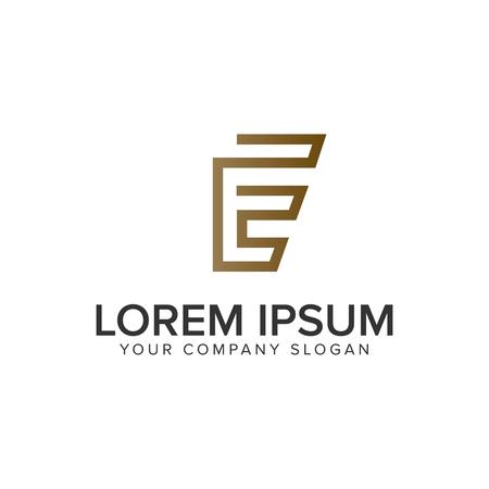Illustration pour Luxury line letter E minimalist logo design concept template. - image libre de droit
