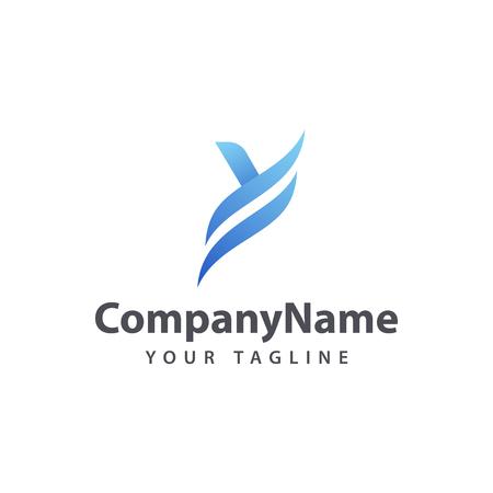 Illustration pour Letter Y Blue logo design template. - image libre de droit