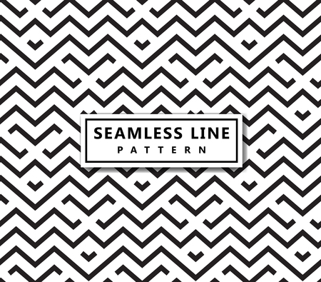 Illustration pour The geometric pattern by stripes . Seamless vector background. Black texture. - image libre de droit