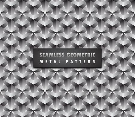 Illustration for Modern geometric 3d seamless background illustration. - Royalty Free Image