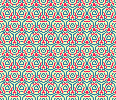 Ilustración de Seamless pattern decorative symmetries, ornament pattern vector illustration - Imagen libre de derechos