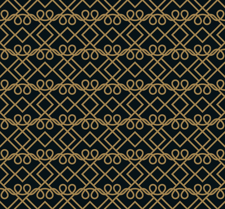 Ilustración de Seamless pattern. Elegant linear ornament. Geometric stylish background. Vector repeating texture - Imagen libre de derechos