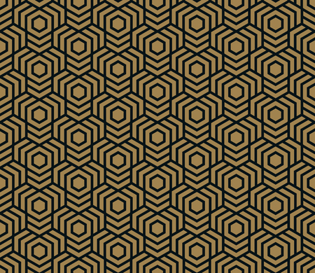 Illustration for Seamless pattern. Elegant linear ornament. Geometric stylish background. Vector repeating texture - Royalty Free Image
