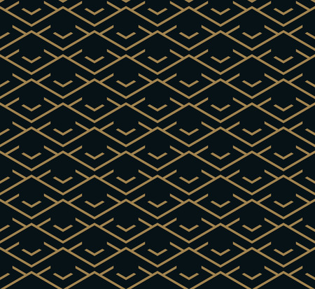 Ilustración de Vector seamless pattern. Modern stylish texture. Repeating geometric tiles from striped elements - Imagen libre de derechos