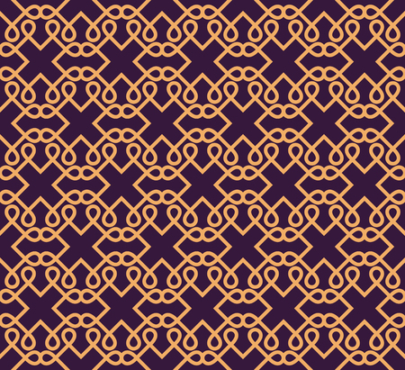 Ilustración de Luxury Geometric Pattern. Vector seamless pattern. Modern linear stylish texture. Geometric striped ornament. - Imagen libre de derechos