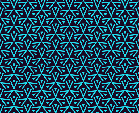 Illustration pour Seamless pattern. Ornament geometric. Linear abstract background. - image libre de droit
