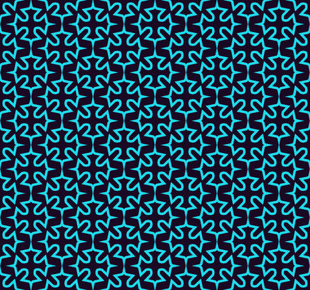 Illustration pour Seamless pattern. Ornament of lines and curls. Linear abstract background. - image libre de droit
