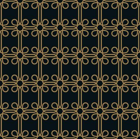 Illustration pour Seamless pattern. Graphic lines ornament. Floral stylish background. - image libre de droit