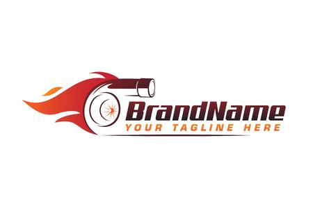 Illustration pour turbo fire performance auto logo. automotive logo design vector - image libre de droit