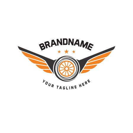 Illustration pour Car wheel logo template vector design vintage style. auto tire logo vector - image libre de droit