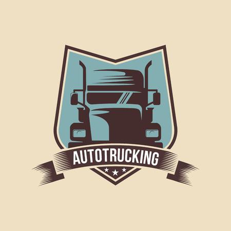 Ilustración de A template of Truck Logo, cargo, delivery, Logistic - Imagen libre de derechos