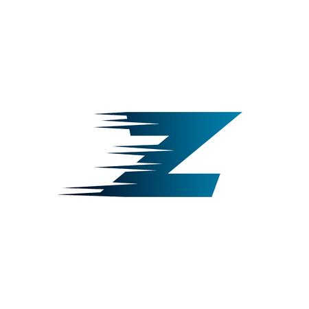 Ilustración de Letter Initial Z Speed Logo Design Template - Imagen libre de derechos