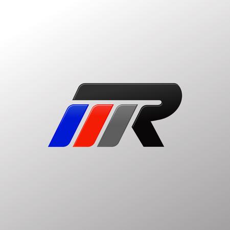 Illustration pour letter MR racing logo design template - image libre de droit