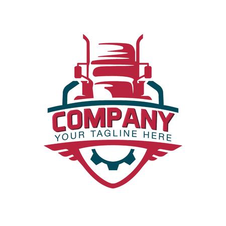 Illustration pour A template of Truck Logo, cargo, delivery, Logistic - image libre de droit