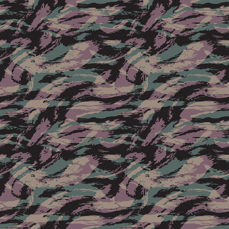 Ilustración de Camouflage pattern. Seamless. Military background. Soldier camouflage. Abstract seamless pattern for army, navy, hunting, fashion cloth textile. Colorful modern soldier style. Vector facric texture. - Imagen libre de derechos