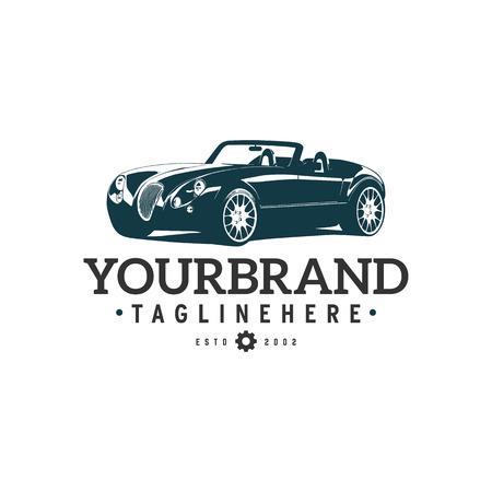 Illustration pour illustration classic car logo template - image libre de droit