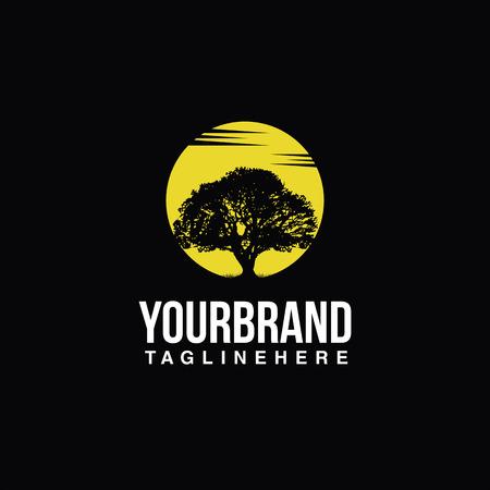 Ilustración de Tree logo sun - Imagen libre de derechos