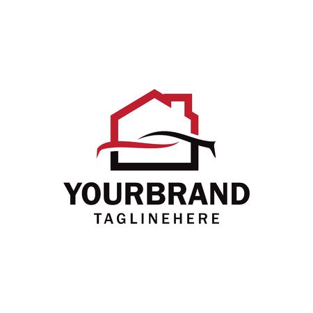 Illustration for car garage, workshop, car, home or house garage, workshop logo - Royalty Free Image