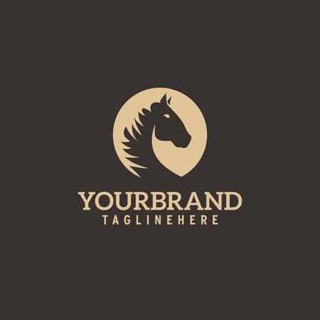 Ilustración de Horse head logo. Simple elegant one color silhouette. - Imagen libre de derechos