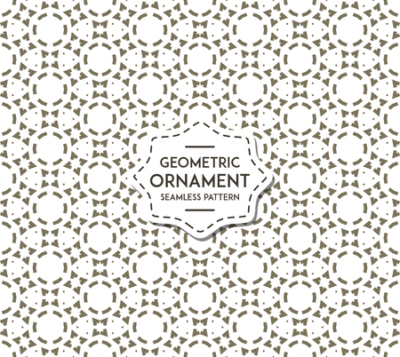 Illustration pour Abstract geometric pattern with lines, rhombuses A seamless vector background. - image libre de droit