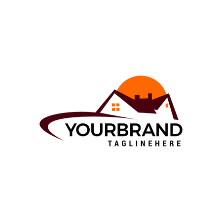 Illustration for Real Estate , Property and Construction Logo design - Royalty Free Image