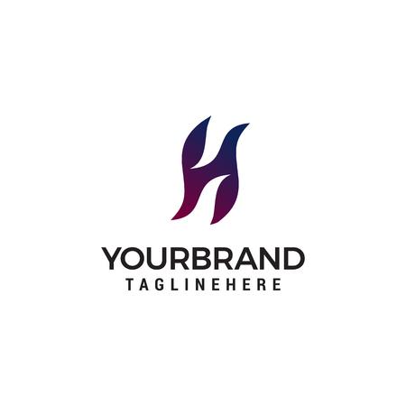 Ilustración de Letter H logo icon design template elements - Imagen libre de derechos