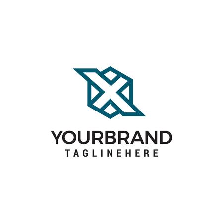 Ilustración de initials letter X hexagon logo design template - Imagen libre de derechos