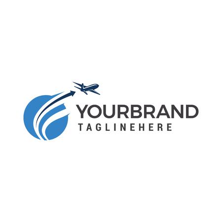 Illustration pour Planet Travel Logo, Plane fly logo design template elements - image libre de droit