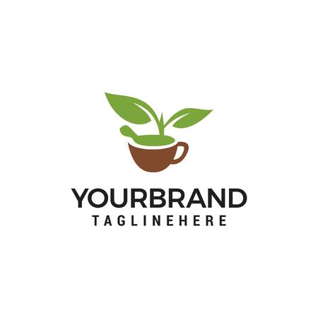 Ilustración de Nature Herbal Logo Template Design Vector - Imagen libre de derechos