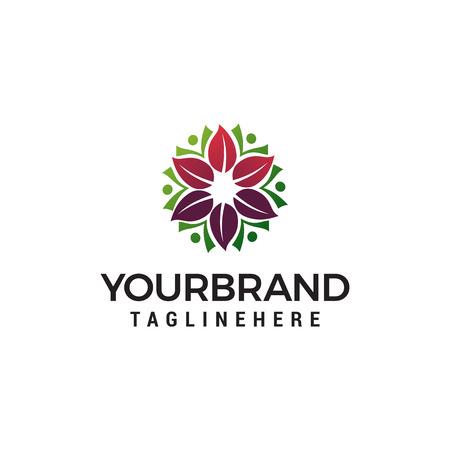 Illustration pour spa cosmetic flower logo for beauty salon logo design concept template vector - image libre de droit