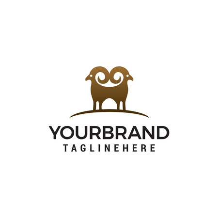 Illustration pour sheep logo design concept template vector - image libre de droit