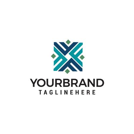 Ilustración de initial letter F Logo design concept template vector - Imagen libre de derechos