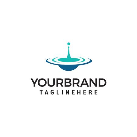 Ilustración de water drop logo design concept template vector - Imagen libre de derechos