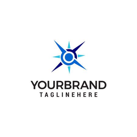 Illustration pour compass logo design concept template vector - image libre de droit