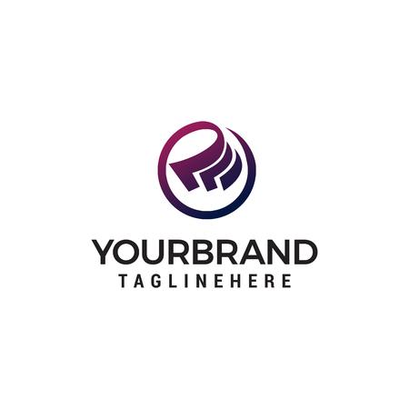 Illustrazione per Cash logo design concept template vector - Immagini Royalty Free