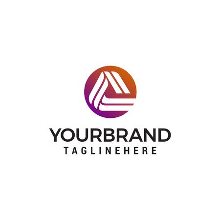 Ilustración de letter A logo design concept template vector - Imagen libre de derechos
