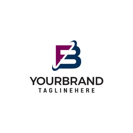 Ilustración de letter fb company logo design concept template vector - Imagen libre de derechos