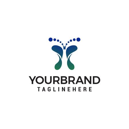 Ilustración de foot spa logo design concept template vector - Imagen libre de derechos