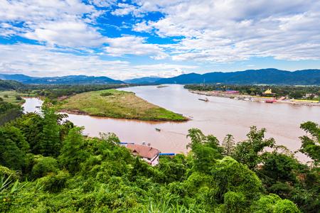 Foto de Golden Triangle at Mekong River, Chiang Rai Province, Thailand - Imagen libre de derechos