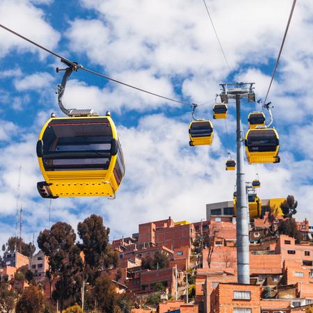 Foto für Mi Teleferico is an aerial cable car urban transit system in the city of La Paz, Bolivia. - Lizenzfreies Bild